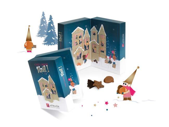 Illustrations de Noël et calendrier de l'Avent