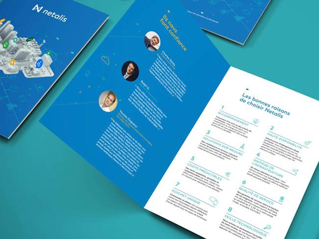 Création de brochure, secteur numérique